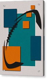 Miami Dolphins Football Art Acrylic Print by Joe Hamilton