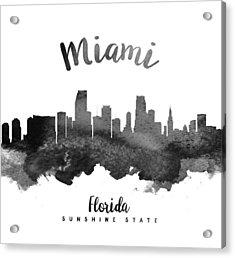 Miami Florida Skyline 18 Acrylic Print by Aged Pixel