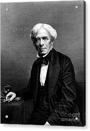 Michael Faraday, English Physicist Acrylic Print by Photo Researchers