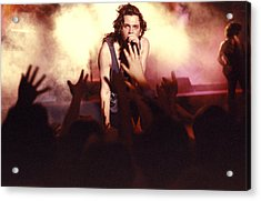 Michael Hutchence And Inxs 1985 Acrylic Print by Sean Davey