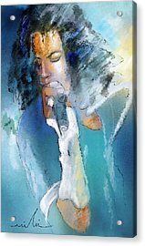 Michael Jackson 04 Acrylic Print by Miki De Goodaboom