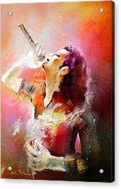 Michael Jackson 05 Acrylic Print by Miki De Goodaboom