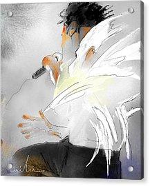 Michael Jackson 08 Acrylic Print by Miki De Goodaboom