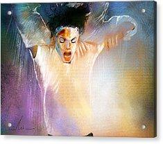 Michael Jackson 09 Acrylic Print by Miki De Goodaboom