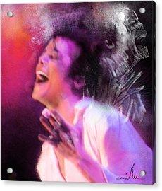 Michael Jackson 11 Acrylic Print by Miki De Goodaboom