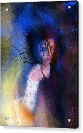 Michael Jackson 16 Acrylic Print by Miki De Goodaboom