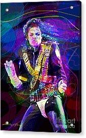Michael Jackson '93 Moves Acrylic Print by David Lloyd Glover