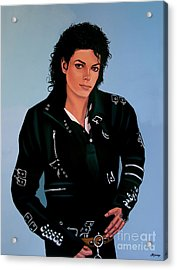 Michael Jackson Bad Acrylic Print by Paul Meijering