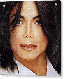 Michael Jackson Classic Portrait Acrylic Print by Yury Malkov