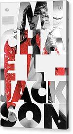 Michael Jackson Acrylic Print by Semih Yurdabak