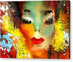 Michael Jackson - Shattered Pop Acrylic Print by Jeff Burgess