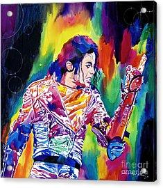 Michael Jackson Showstopper Acrylic Print by David Lloyd Glover