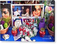 Michael Jackson Shrine Acrylic Print by John Rizzuto