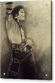 Michael Jackson Acrylic Print by Simone Napier