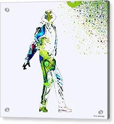 Michael Jackson Acrylic Print by Sir Josef Social Critic - ART