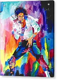 Michael Jackson Wind Acrylic Print by David Lloyd Glover
