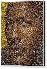 Michael Jordan Money Mosaic Acrylic Print by Paul Van Scott
