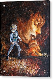 Michael Lives Acrylic Print by Nik Helbig
