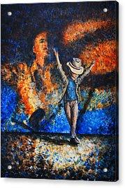 Michael Rocks Acrylic Print by Nik Helbig