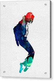 Michael Watercolor Acrylic Print by Naxart Studio