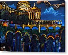 Michaelangelo Arches Vatican Acrylic Print by Gregory Allen Page