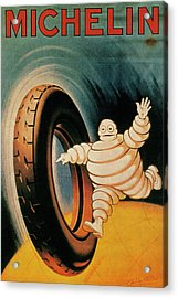 Michelin Tires Vintage Art Poster Acrylic Print by Design Turnpike