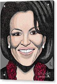 Michelle Obama Acrylic Print by Richard Heyman