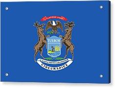 Michigan State Flag Acrylic Print by American School