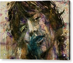 Mick Jagger @ Gimmie Shelter  Acrylic Print by Paul Lovering