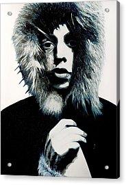 Mick Jagger - Rolling Stones Acrylic Print by Jocelyn Passeron