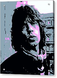 Mick Jagger In London Acrylic Print by David Lloyd Glover