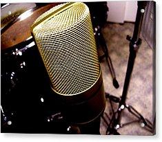 Microphone Acrylic Print by Michael Grubb