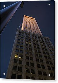 Mid-continent Tower Acrylic Print by William Oswald