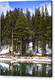 Mid Day Melt Acrylic Print by Chris Brannen