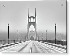 Middle Of Bridge Acrylic Print by Chad Latta
