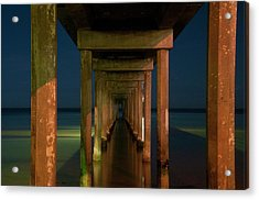 Midnight At Brighton Jetty Acrylic Print by Andrew Dickman