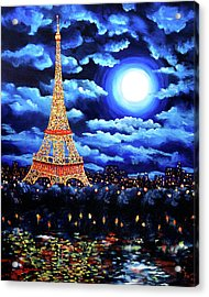 Midnight In Paris Acrylic Print by Laura Iverson