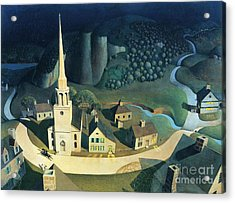Midnight Ride Of Paul Revere Acrylic Print by Pg Reproductions