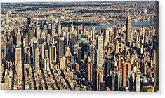 Midtown Manhattan Nyc Aerial View Acrylic Print by Susan Candelario