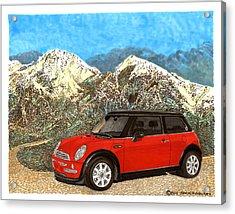 Mighty Mini Cooper S Acrylic Print by Jack Pumphrey