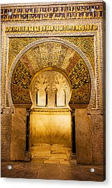 Mihrab In The Great Mosque Of Cordoba Acrylic Print by Artur Bogacki