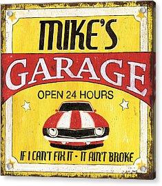 Mike's Garage Acrylic Print by Debbie DeWitt