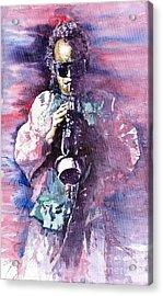 Miles Davis Meditation 2 Acrylic Print by Yuriy  Shevchuk