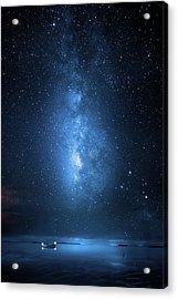 Milky Way Bay Acrylic Print by Mark Andrew Thomas