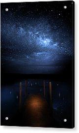 Milky Way Galaxy Acrylic Print by Mark Andrew Thomas