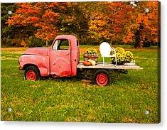 Millers Truck Acrylic Print by Paul Bartoszek