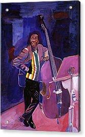 Milt Hinton Jazz Bass Acrylic Print by David Lloyd Glover