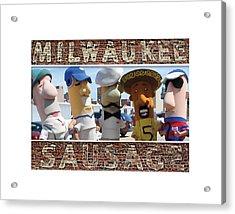 Milwaukee Sausages Acrylic Print by Geoff Strehlow