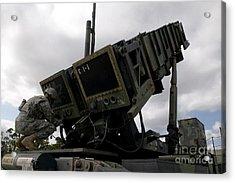 Mim-104 Patriot Missile Launcher Acrylic Print by Stocktrek Images