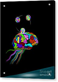 Mind Games - Open Edition Acrylic Print by Kathryn L Novak
